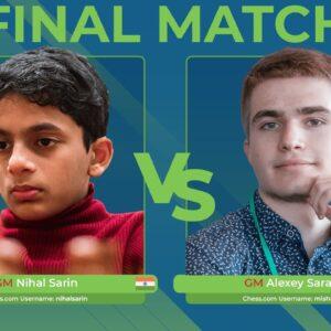 GM Nihal Sarin vs GM Alexey Sarana | Junior Speed Chess Championship Final