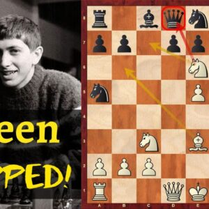 14-year old Fischer vs Reshevsky - Queen Trapped in 11 Moves!
