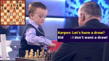 3-year-old Misha Osipov vs World Champion Anatoly Karpov