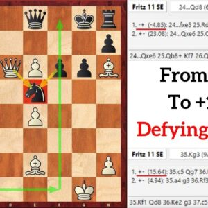 Brilliant Positional Queen Sacrifice – Defying Chess Engines!