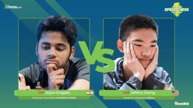 GM Erigaisi vs GM Xiong   Junior Speed Chess Championship