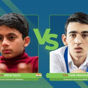 GM Nihal vs GM Martirosyan | Junior Speed Chess Championship