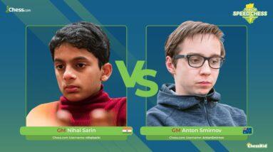 GM Sarin vs GM Smirnov   Junior Speed Chess Championship