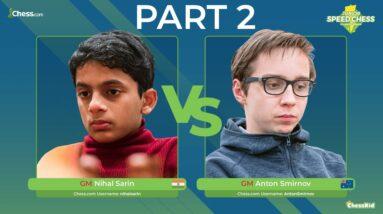 GM Sarin vs GM Smirnov   Junior Speed Chess Championship PART 2