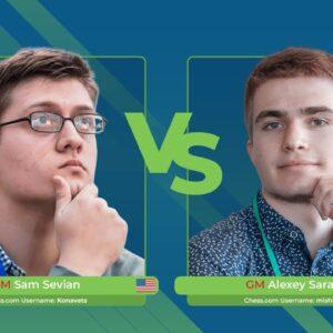 GM Sevian vs GM Sarana | Junior Speed Chess Championship
