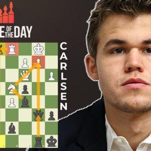 Magnus Carlsen Finds Brilliant Chess Move Vs Tari!