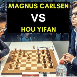 Magnus Carlsen vs Hou Yifan | Brilliant Exchange Sacrifice!