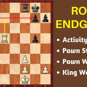 Rook Endgames - Importance of Activity & Pawn Structures