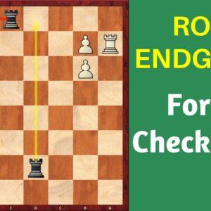 Rook Endgames - Importance of King Safety