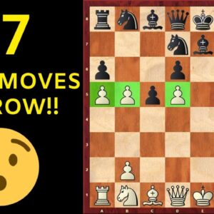 SHOCKING: White's First 17 Moves Are All Pawn Moves!