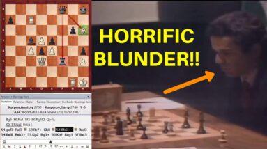 Kasparov's Horrific Blunder VS Karpov! | World Chess Championship Match 1987