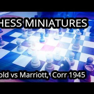 A miniature in the French - Marriott vs Arnold, corr 1945