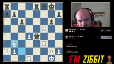 A quiet waiting move! Queen's Gambit declined attacking game