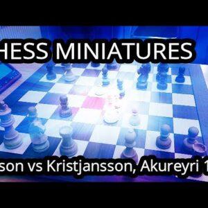 A successful Botez gambit!  - Jonsson vs Kristjansson, Akureyri 1962