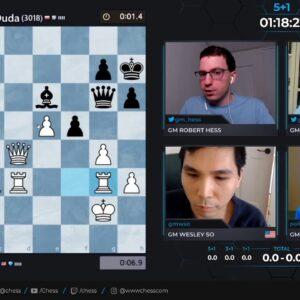 SCC Quarterfinals - So vs Duda - Hosts GM Naroditsky and GM Hess #speedchess