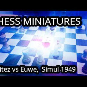 Deadly Pin! - Benitez vs Euwe, Simul 1949