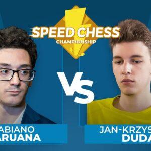 Fabiano Caruana vs Jan-Krzysztof Duda | Speed Chess Championship