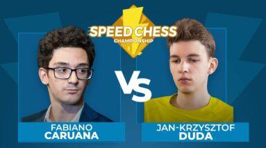 Fabiano Caruana vs Jan-Krzysztof Duda   Speed Chess Championship