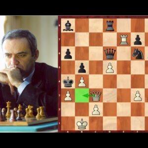 Kasparov's Double-Rook Sacrifice vs Topalov (Must Watch!)