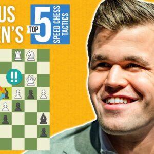 Magnus Carlsen's Top 5 Speed Chess Tactics
