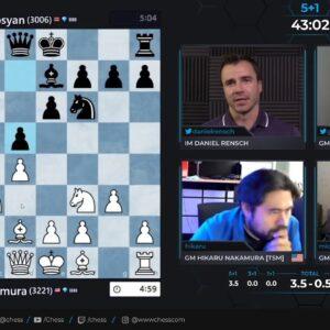 SCC - Nakamura vs Martirosyan - Hosts GM Hess and IM Rensch #speedchess
