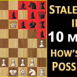 Fastest Stalemate in Chess | Shortest Stalemate Game Possible | Chess Records