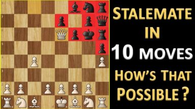 Fastest Stalemate in Chess   Shortest Stalemate Game Possible   Chess Records