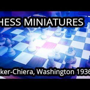 The offside Queen - Denker vs Chiera, Washington (simul) 1936