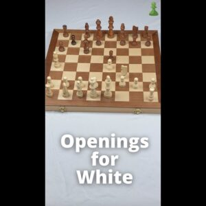 3 Basic Chess Openings for White #Shorts