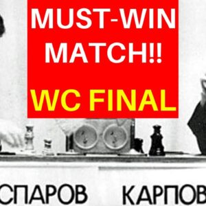 Kasparov Beat Karpov in a Must-Win Final Game in WC 1987! | Double Fianchetto System