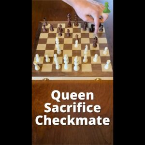 How To Sacrifice Your Queen To Win Chess #Shorts
