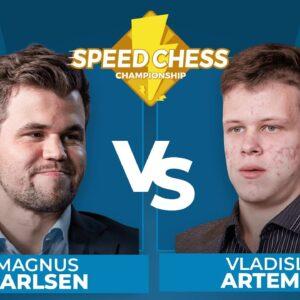 Magnus Carlsen vs Vladislav Artemiev | Speed Chess Championship