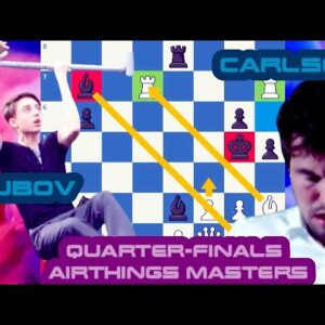 Dobov forces Magnus into calisthenics! || Daniil Dubov vs Magnus Carlsen || Airthings Masters QFinal