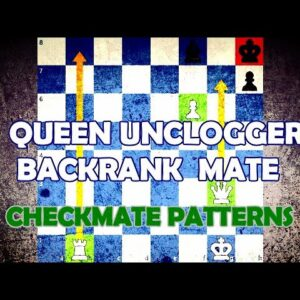 Queen Unclogger Backrank Mate - Chess Checkmate Patterns
