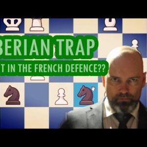 Siberian Trap gives easy blitz win in the French Defence!