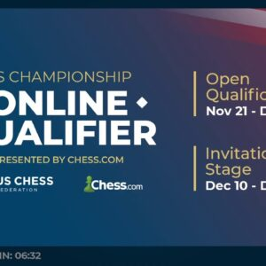 USChess Open Qualifier with hosts IM David Pruess and NM James Canty |||