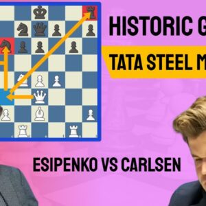 A historic game at Tata Steel | Andrey Esipenko vs Magnus Carlsen | Tata Steel Masters 8th Round