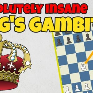 An insane King's Gambit game - Black checkmated in just 13 moves!