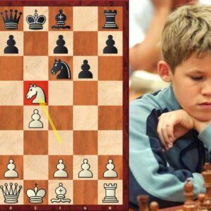 Magnus Carlsen SHOCKED his opponent with the Halloween Gambit!