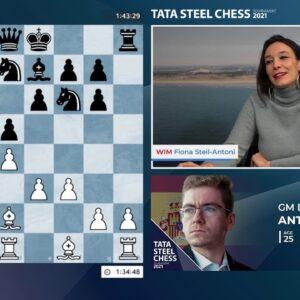TATA Steel Chess 2021 Round 2 with hosts WIM Steil-Antoni and GM Naroditsky
