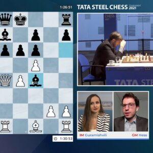 Tata Steel Chess Round 10 with IM Guramishvili and GM Hess