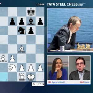 Tata Steel Chess Round 11 with IM Guramishvili and GM Hess