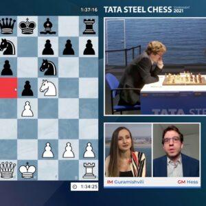 Tata Steel Chess Round 9 with IM Guramishvili and GM Hess