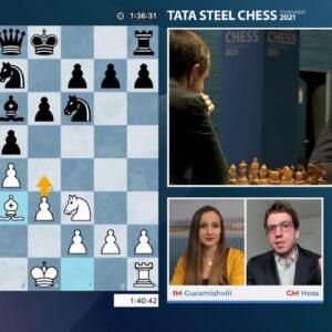 TATA Steel Round 12 with hosts GM Hess and IM Guramishvili