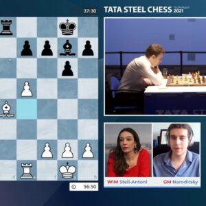 Tata Steel Round 4 with WIM Steil-Antoni and GM Naroditsky