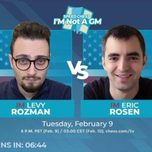 I'M not a GM championship - IM Rozman vs IM Rosen w/ GM Hambleton and GM Hess