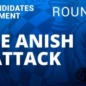 fide candidates tournament anish attack round 9