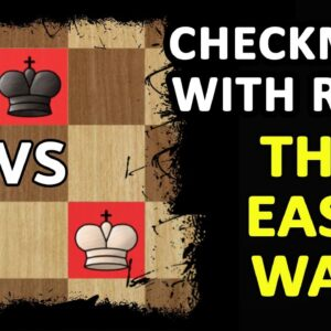 How to Checkmate with a Rook & King | Chess Endgame Basics, Strategy, Moves & Ideas to Win