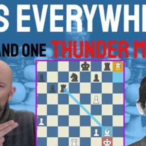 Pins everywhere! - Stein shocks Smyslov and unpins to pin!