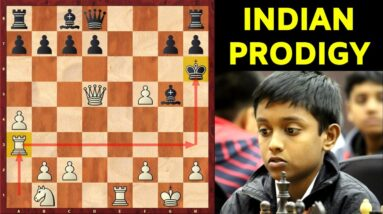 Indian Prodigy REFUTES the Berlin Defense??! | Ruy Lopez opening TRAP